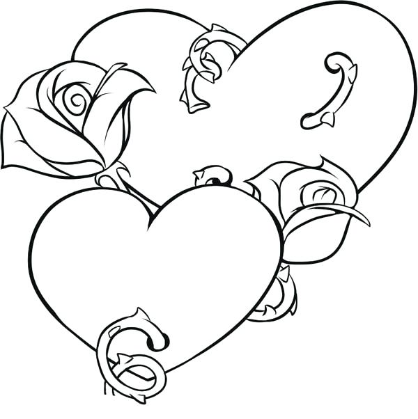 600x602 Wedding Double Heart Pencil And In Color Wedding Wedding Double