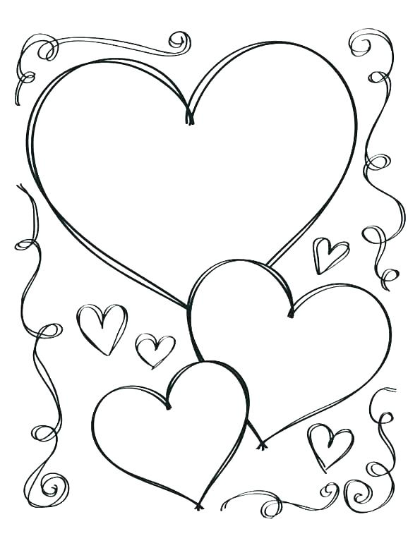 595x794 Double Heart Coloring Pages Professional