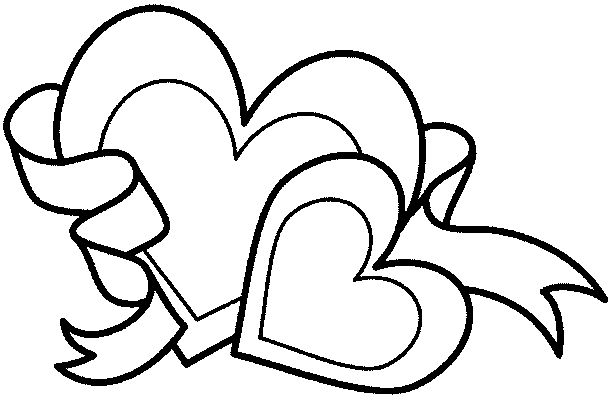 611x400 Best Double Heart Coloring Pages Free Printable