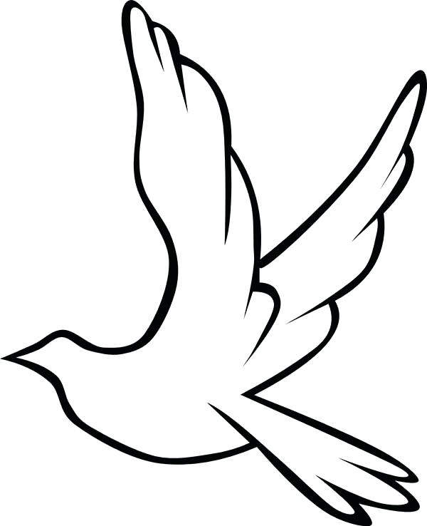 600x738 Doves Coloring Pages Dove Coloring Page Dove Bird Peace Dove Bird