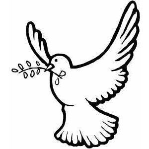 300x300 Flying Dove Coloring Page