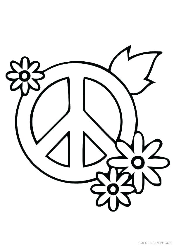 595x842 Free Printable Peace Sign Coloring Pages Peace Dove Free Printable