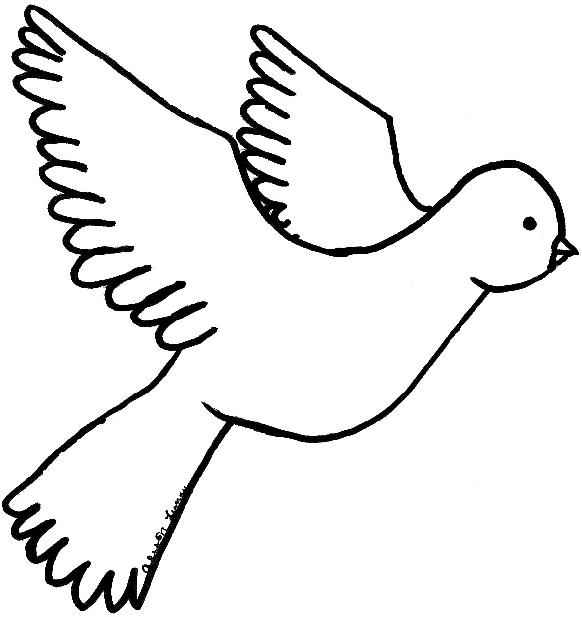 1186x1256 Amazing Peace Dove Coloring Page Awesome Pages Unknown Dove