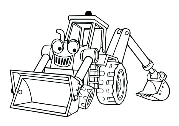 600x423 Bob Builder Coloring Pages Bulldozer Coloring Pages Bob