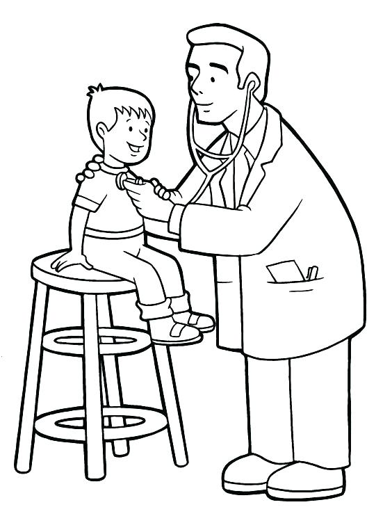 564x729 Doctor Coloring Page Doctor Coloring Page Doctor For Coloring Jobs
