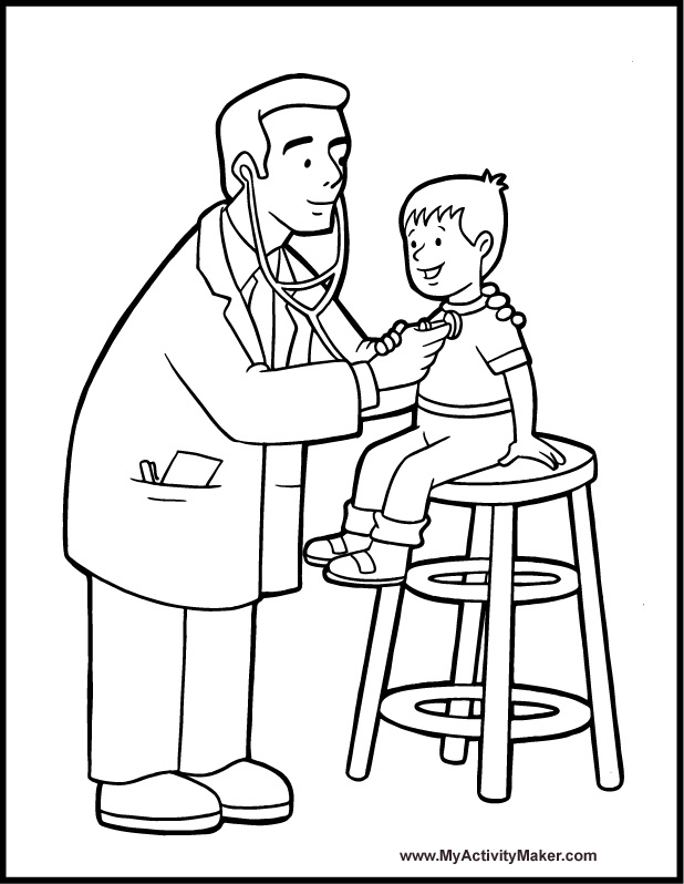 618x798 Doctor Coloring Pages