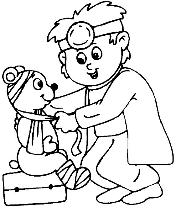 562x660 Doctor Coloring Pages For Kids