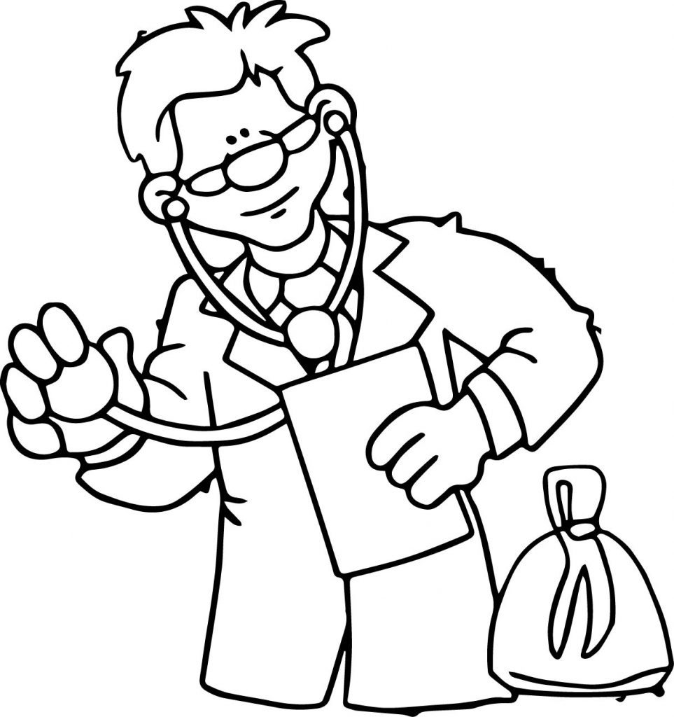 963x1024 Doctor Coloring Pages For Preschool