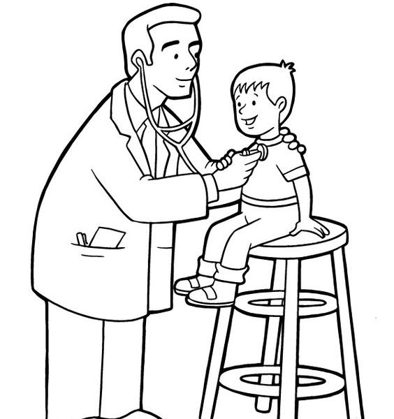 564x600 Doctor Coloring Pages For Preschool Coloring Pages