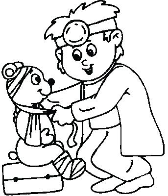 343x400 Doctor Coloring Pages Nice Doctor Coloring Page Doctors Office
