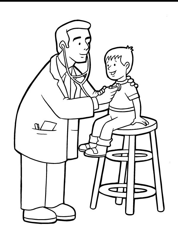 599x761 Doctor Coloring Pages Sheets Pracovne Profesie