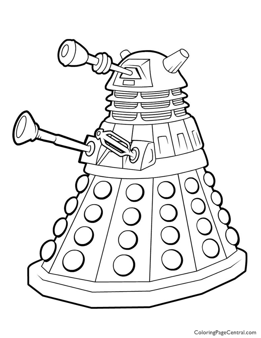 850x1100 Doctor Who Dalek Coloring Page Coloring Page Central