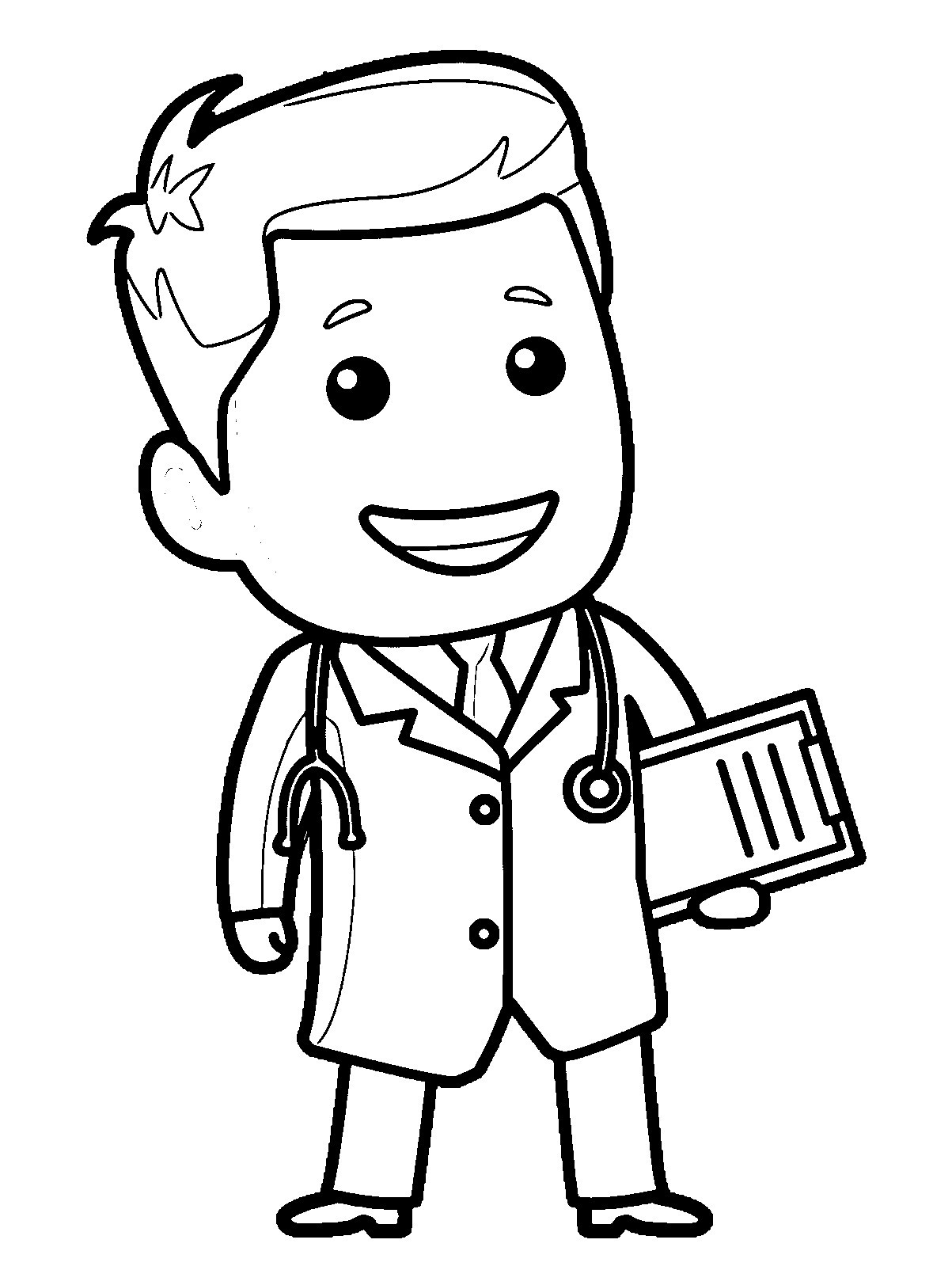 1203x1604 Woman Doctor Coloring Pages