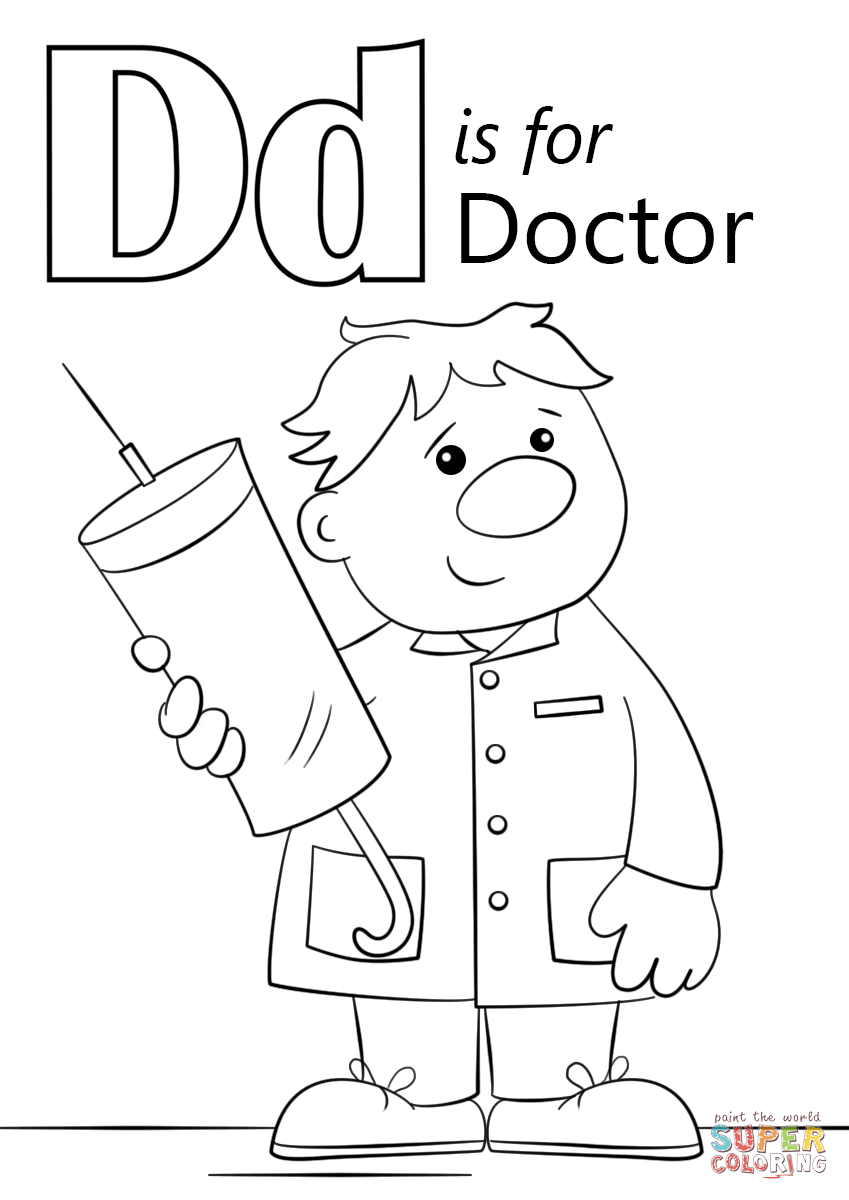 849x1200 Doctor Coloring Pages For Preschool