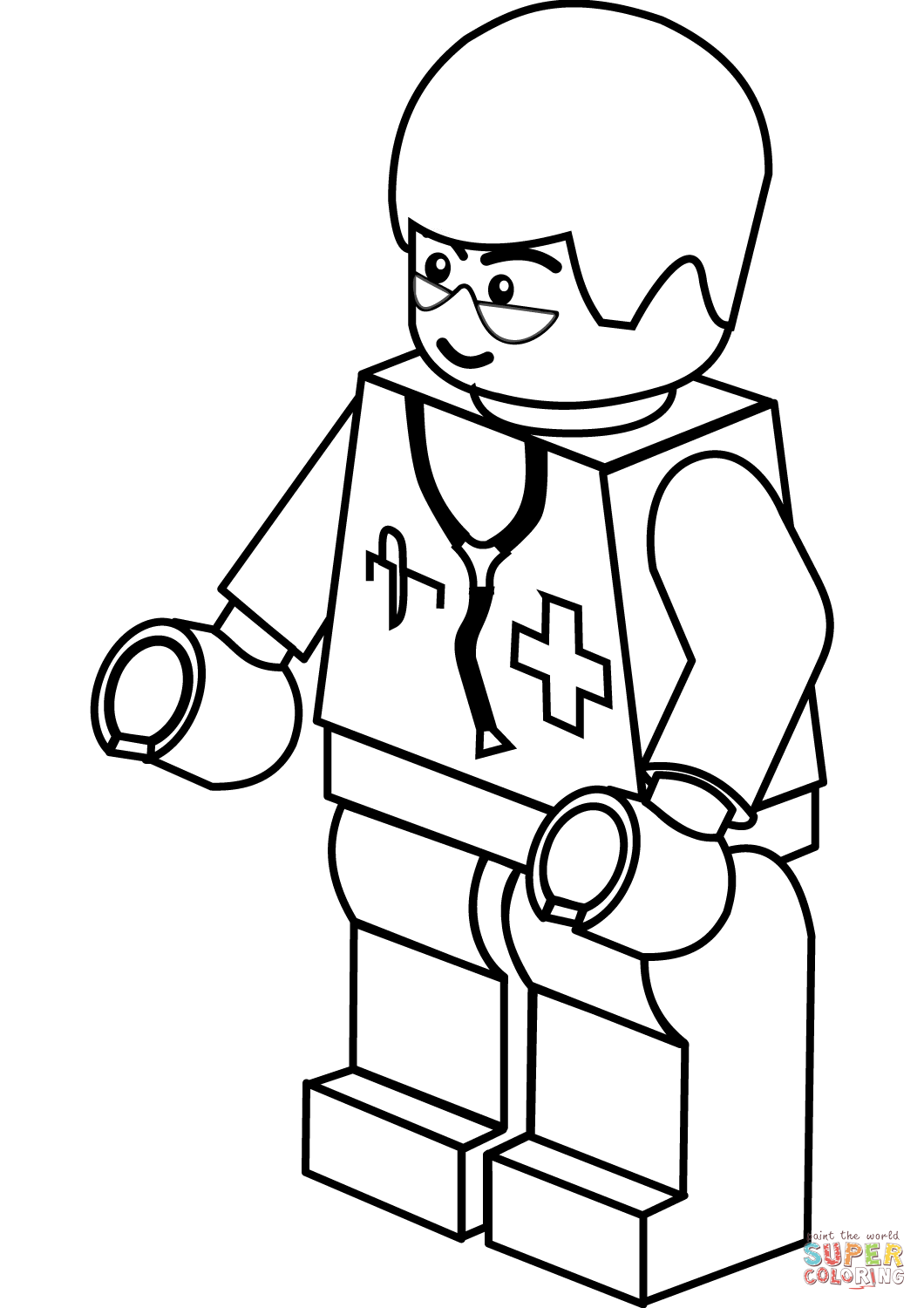 1060x1500 Lego Doctor Coloring Page Free Printable Coloring Pages Free Lego