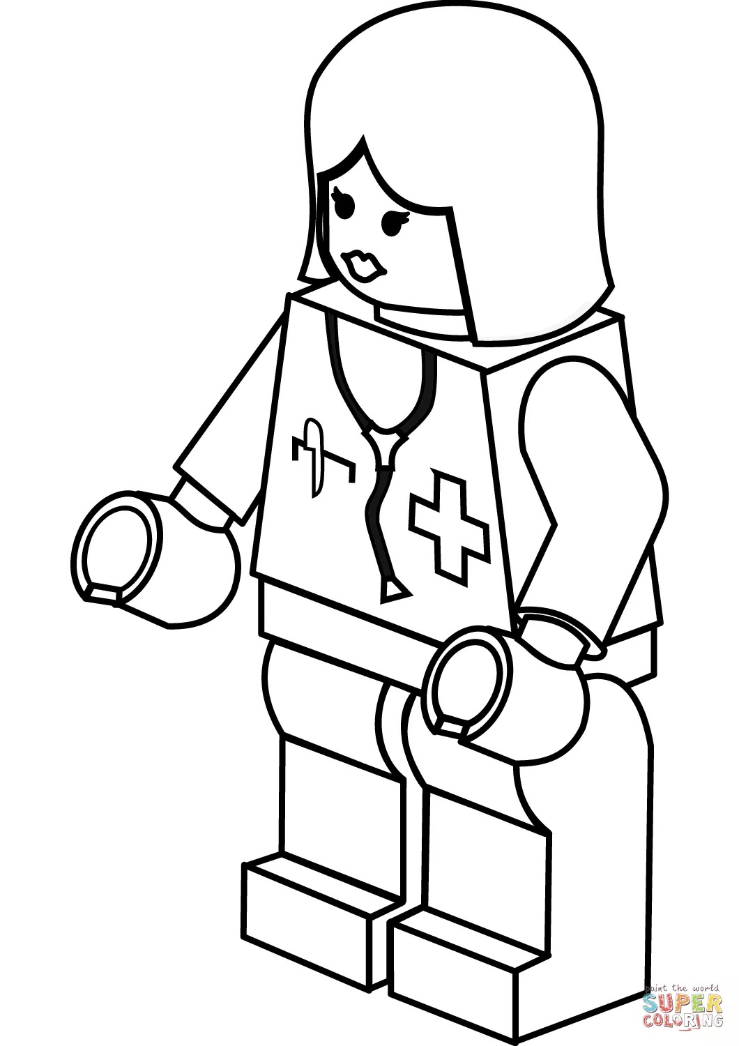 1060x1500 Cool Doctor Coloring Pages For Preschool Lego