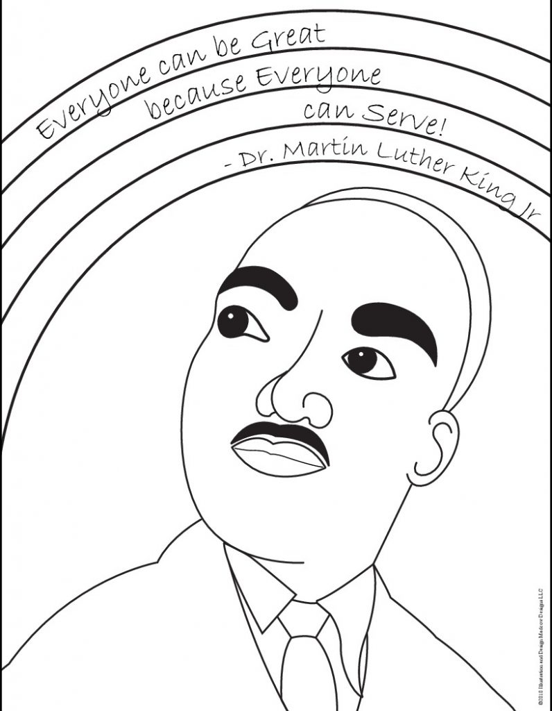 Dr Martin Luther King Coloring Pages