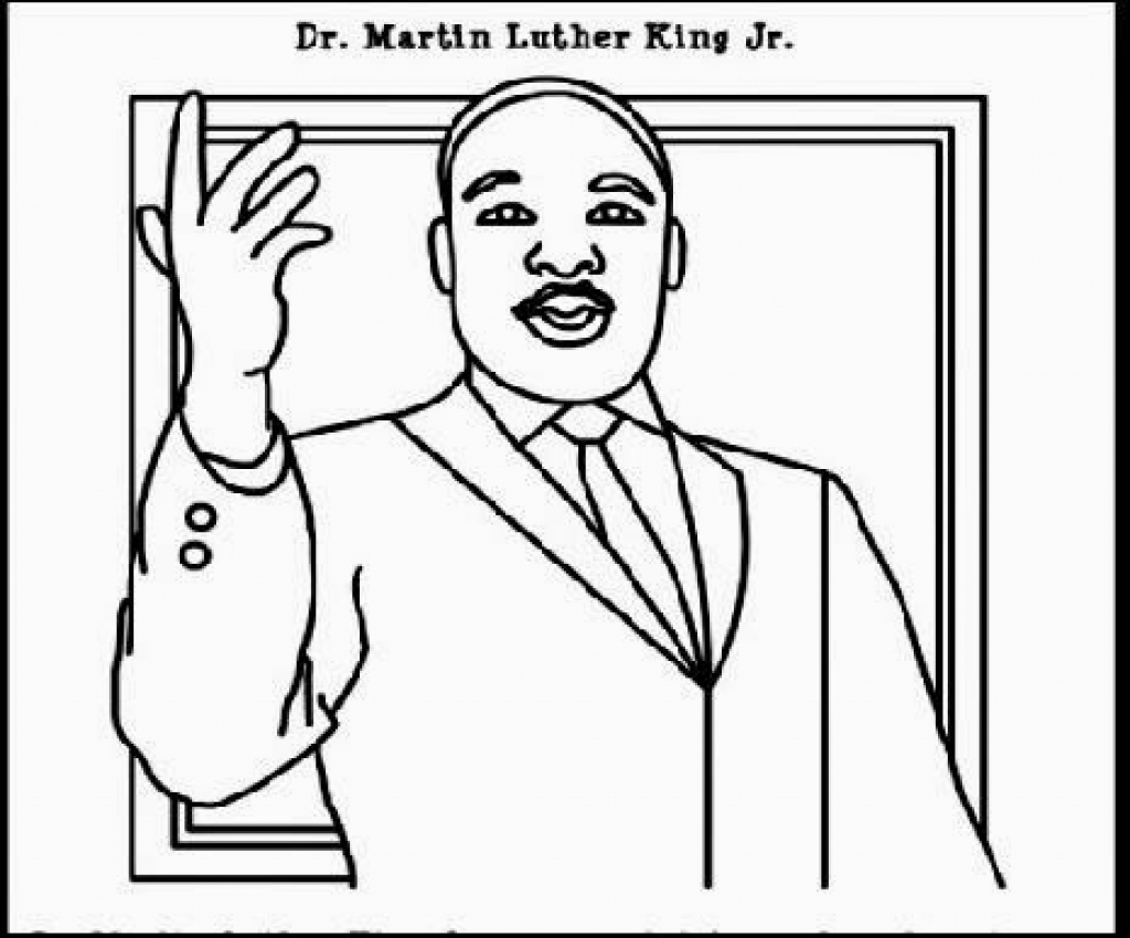1024x850 Dr Martin Luther King Jr Coloring Pages Newyork