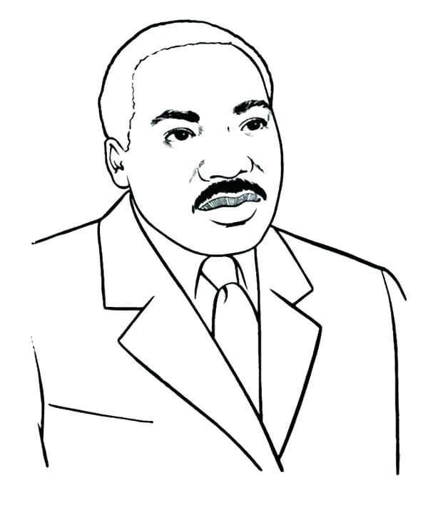 600x733 Dr Martin Luther King Jr Coloring Pictures Martin King Jr Coloring