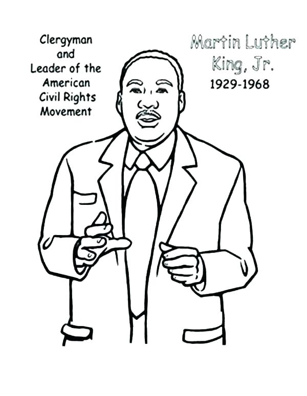 600x775 Free Printable Martin King Jr Day Coloring Pages Day Free Coloring