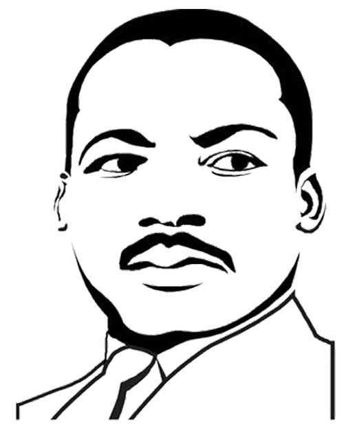 500x643 Martin Luther King Jr Coloring Page