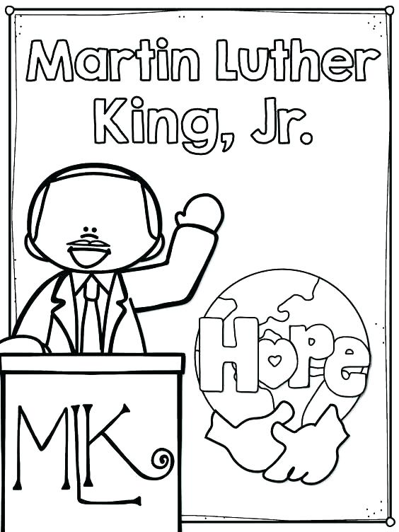 564x752 Martin Luther King Jr Printable Coloring Pages Martin Luther King