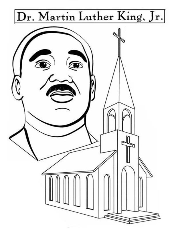 615x800 Martin Luther King Jr And His Church Coloring Pages Free For Kids