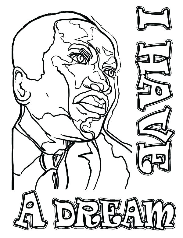 600x783 Mlk Coloring Page Coloring Page Martin King Jr Pages Free For Kids