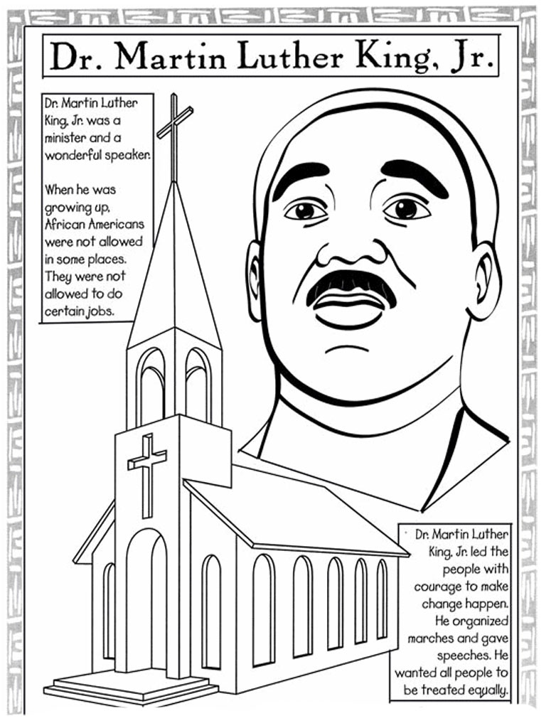768x1024 Mlk Coloring Pages Unique Martin Luther King Jr Coloring Pages