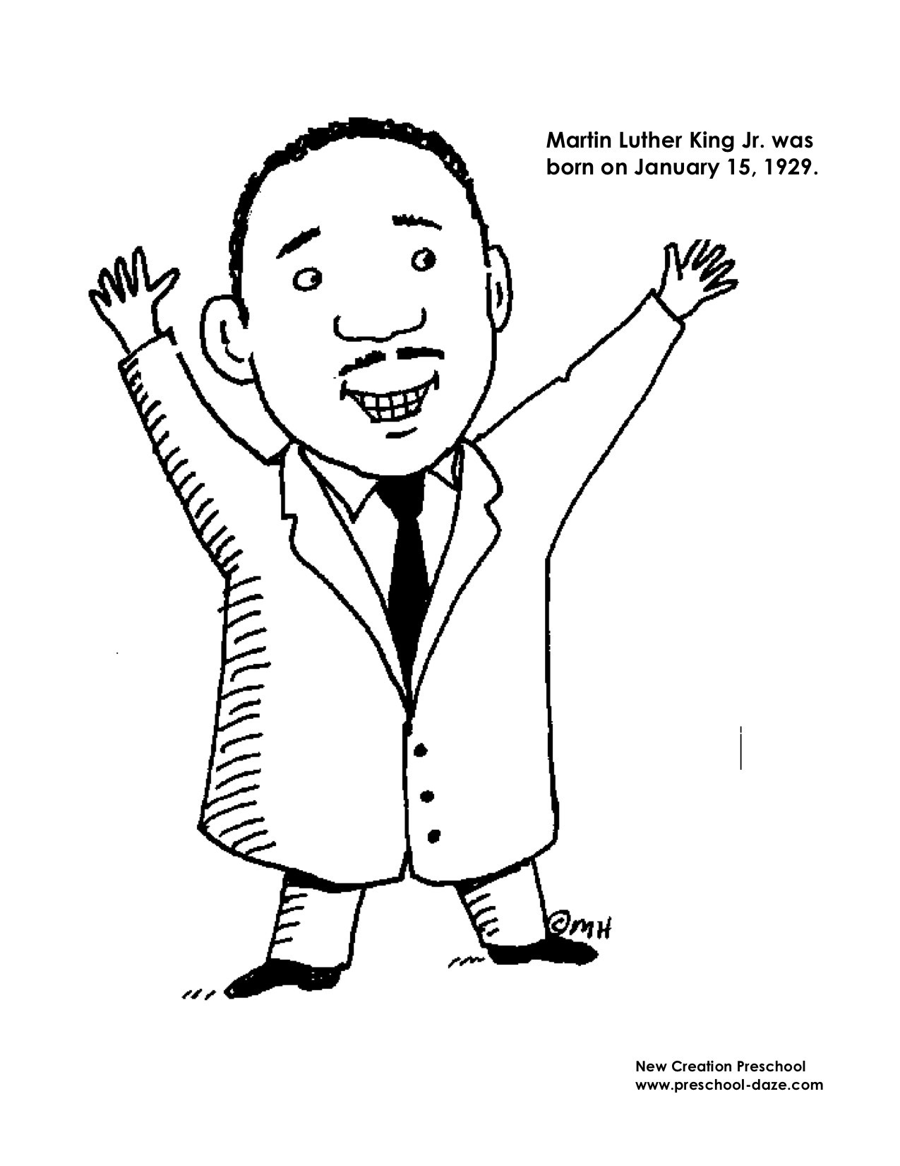 1275x1651 Printable Coloring Pages Of Dr Martin Luther King Jr Best For Page
