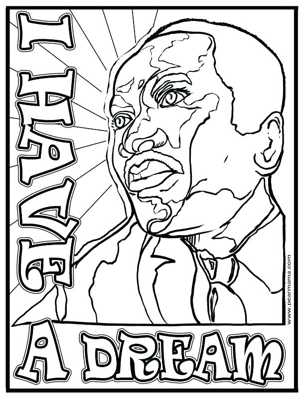 612x799 Coloring Pages For Martin Luther King Jr Martin King Jr Coloring