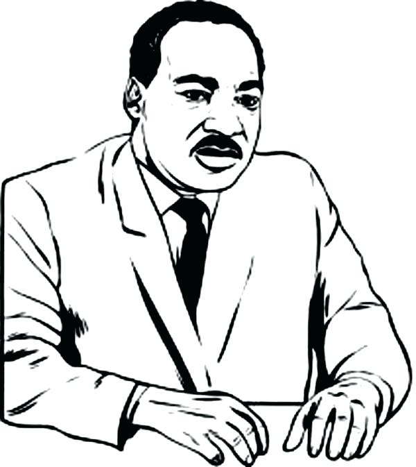 600x673 Dr Martin Luther King Coloring Pages Martin King Jr Coloring Pages