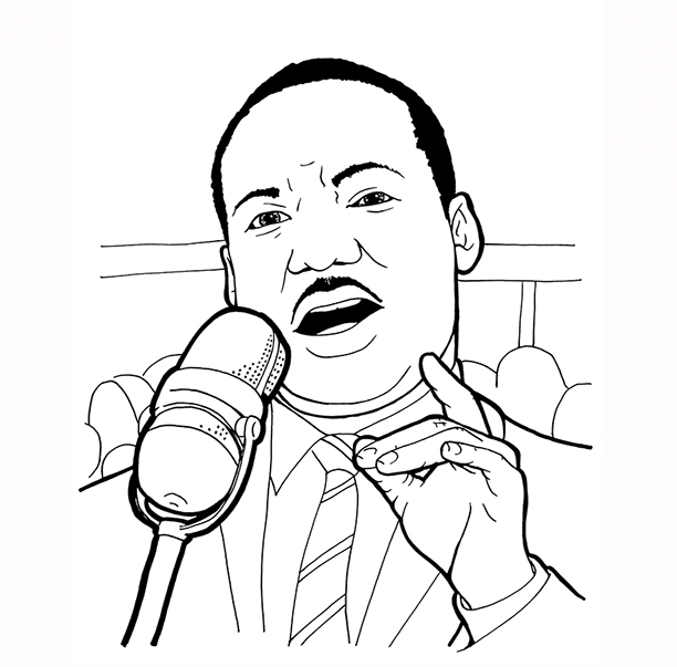 612x603 Dr Martin Luther King Jr Coloring Pages