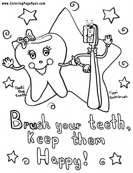 463x600 Teeth Coloring Pages Brush Your Teeth Coloring Page Dental