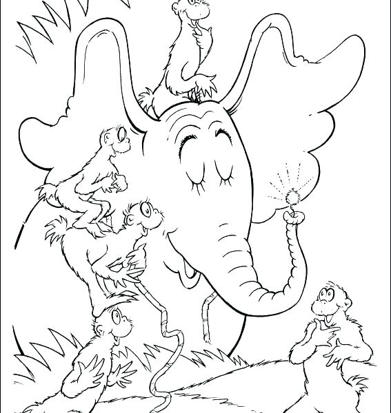 567x600 Dr Seuss Birthday Hat Printable Kids Coloring Hat Coloring Page