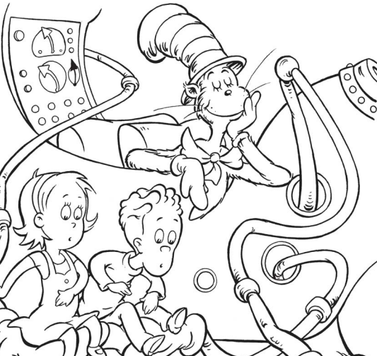 533x503 Dr Seuss Birthday Coloring Pages