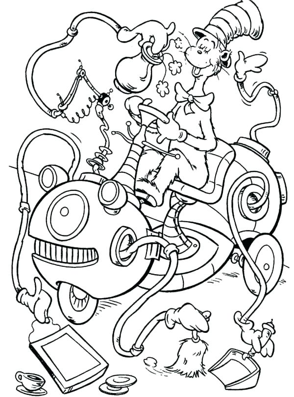 Dr Seuss Cat In The Hat Coloring Pages at GetDrawings ...