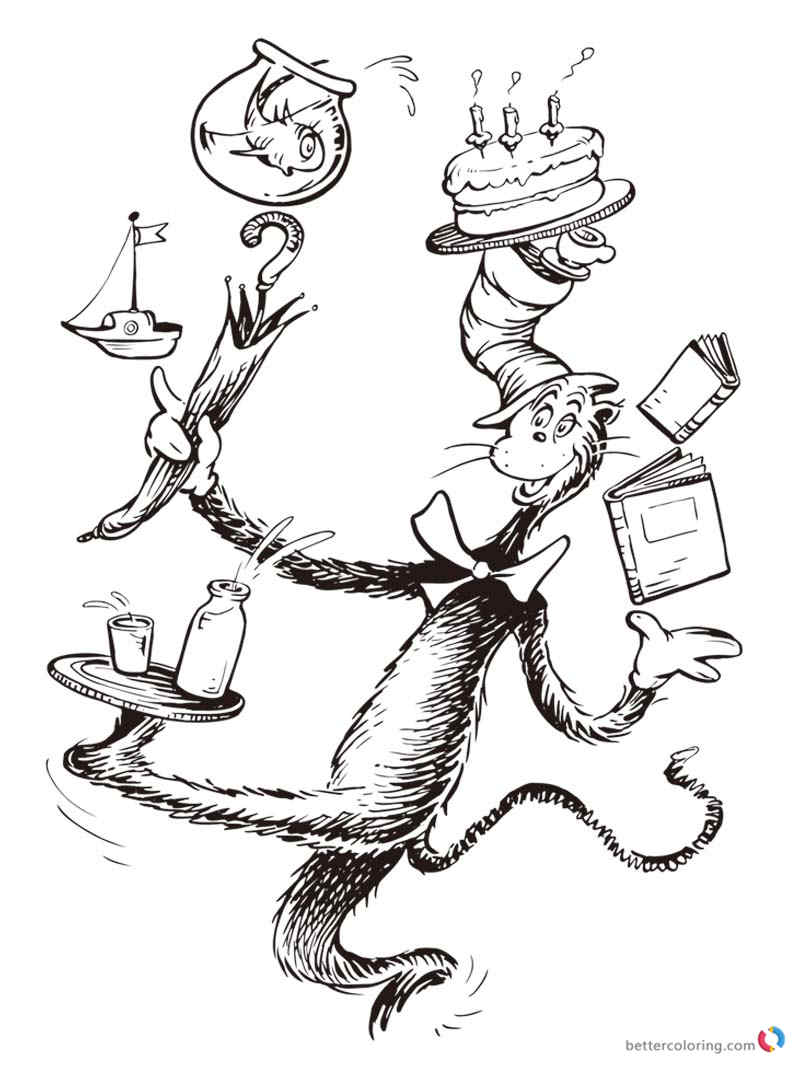 800x1070 Dr Seuss Coloring Pages Cat In The Hat