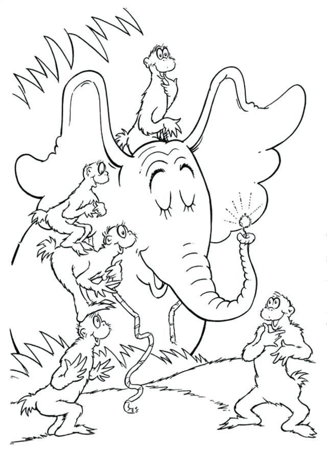 Dr Seuss Characters Coloring Pages at GetDrawings.com | Free for ...