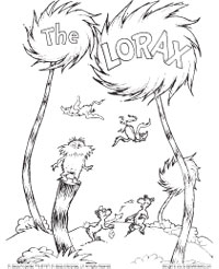 200x246 Lorax Coloring Page Dr Seuss Lorax, Activities