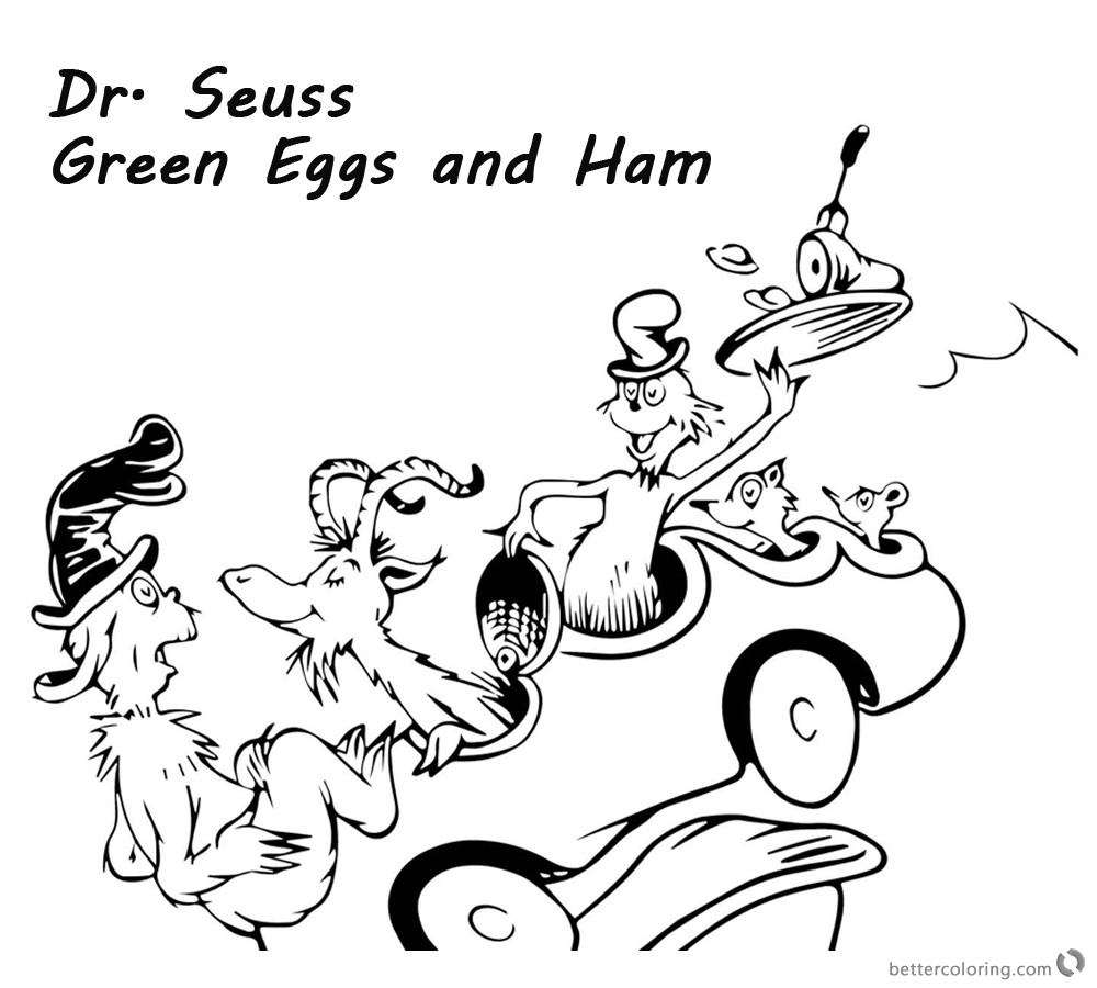 1000x900 Green Eggs And Ham Coloring Page Funycoloring With Pages