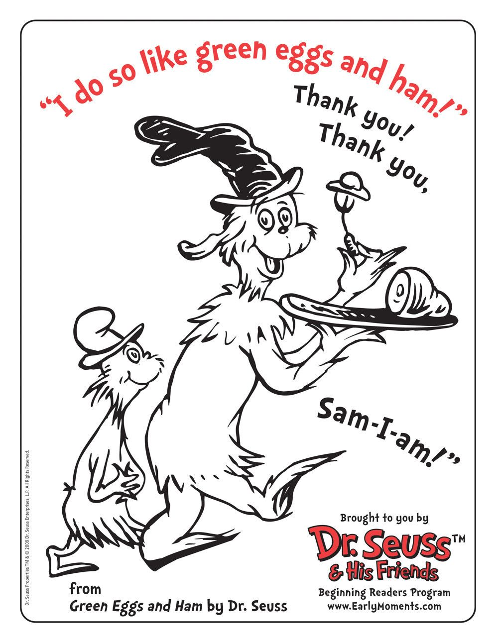 1000x1294 I Like Green Eggs And Ham Coloring Page Pages
