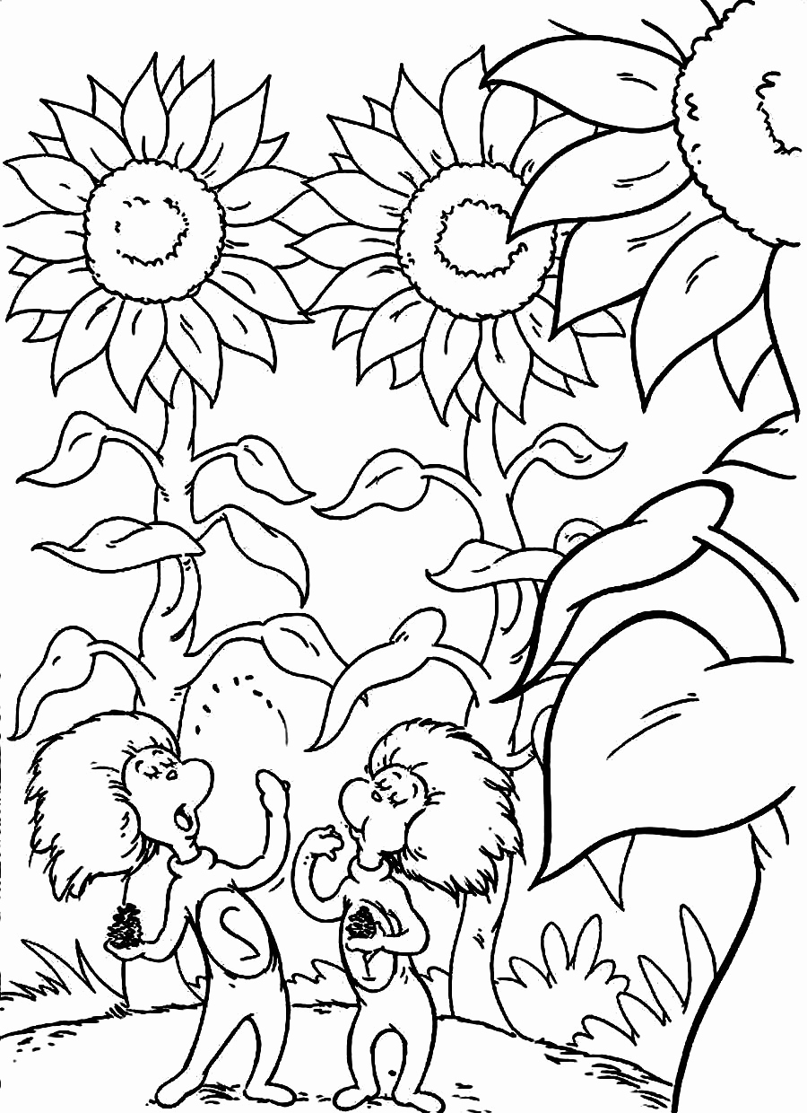 Dr Seuss Coloring Pages Pdf