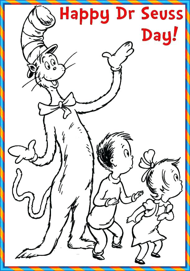611x874 Happy Birthday Dr Seuss Coloring Pages Happy Birthday Coloring