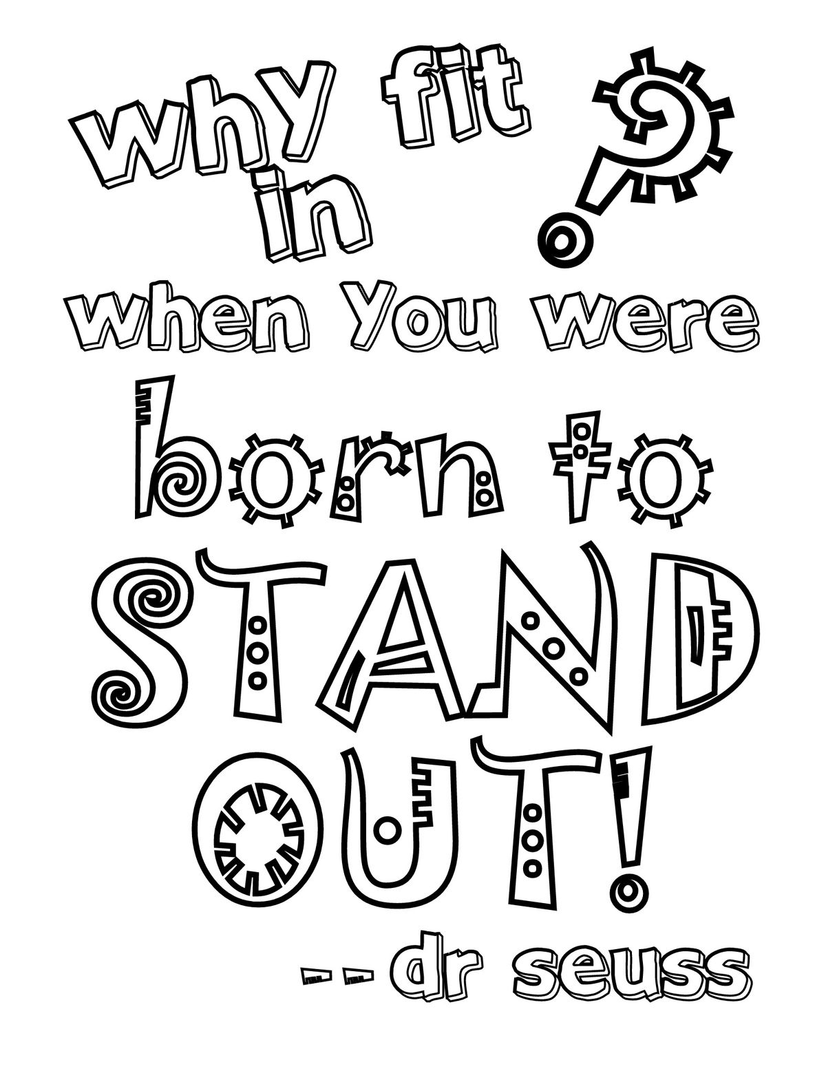 The best free Seuss coloring page images. Download from 857 free ...