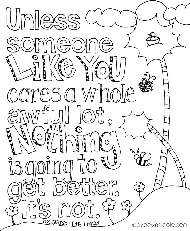 Dr Seuss Birthday Coloring Pages