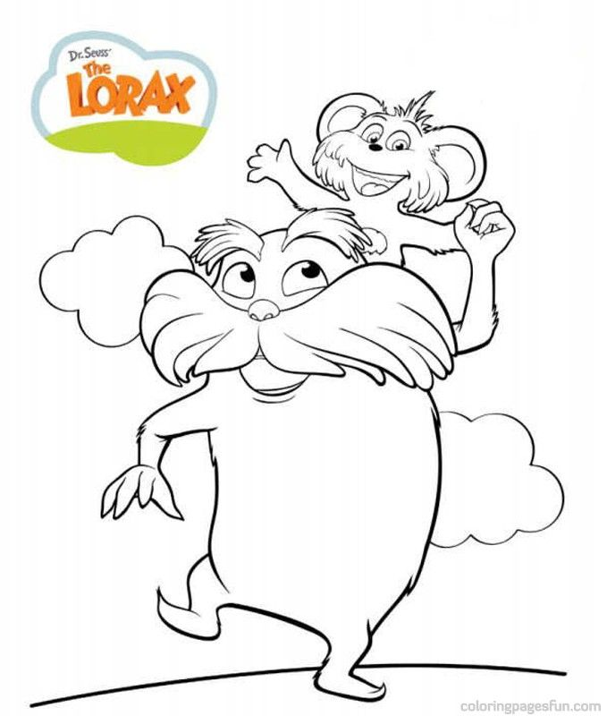 679x800 Dr Seuss The Lorax Coloring Pages