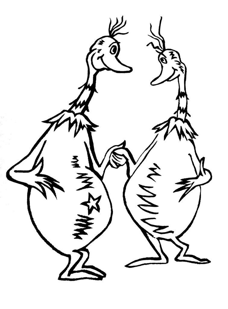 Dr Seuss Fish Coloring Page