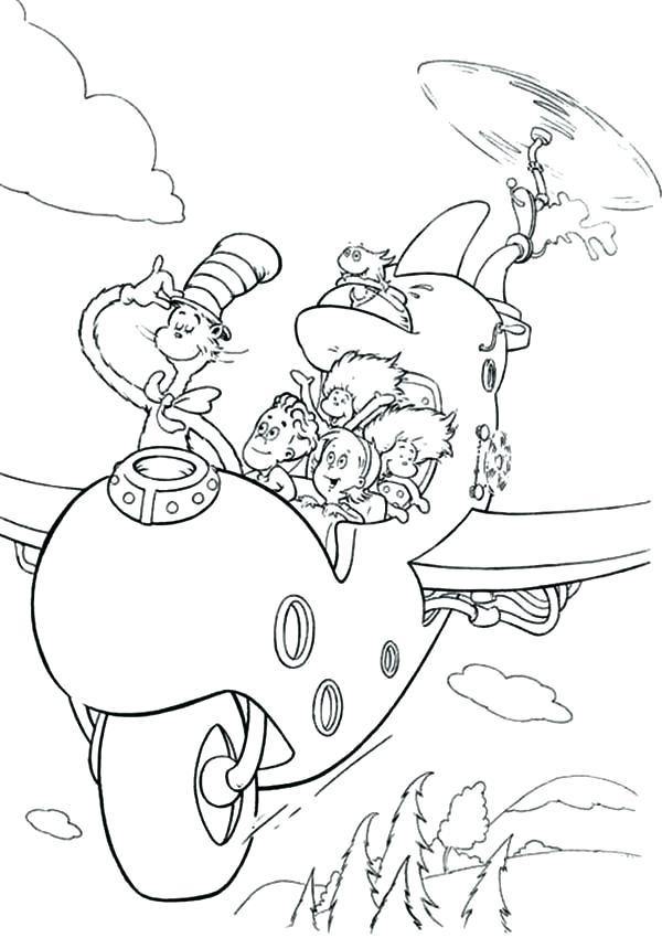 600x850 Dr Seuss Hat Coloring Page Cat In Hat Color Pages Cat