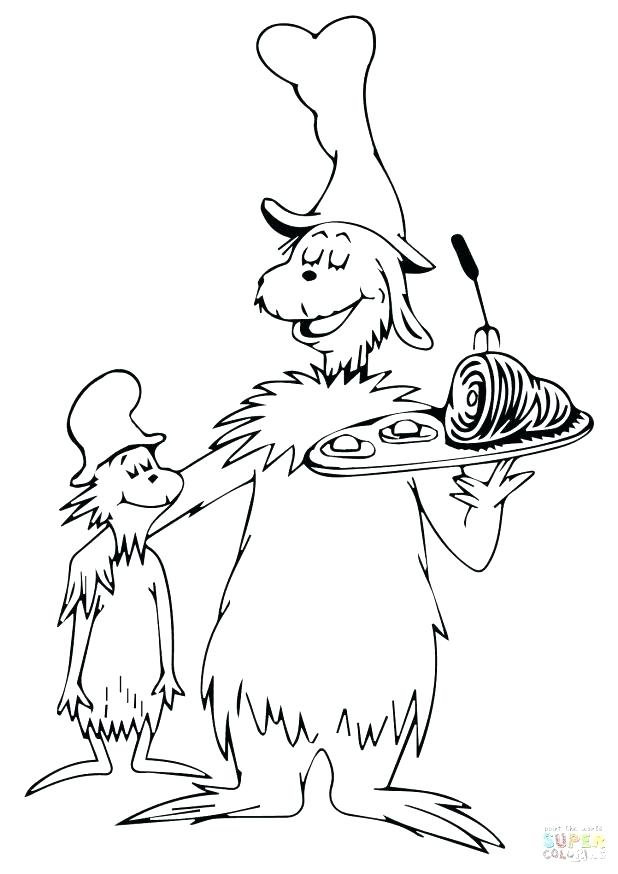 618x874 Dr Seuss Hat Coloring Page Cat In The Hat Coloring Page Green Eggs